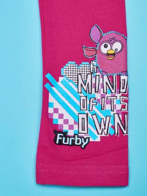 Fuksjowe legginsy dla dziewczynki FURBY                                  zdj.                                  4
