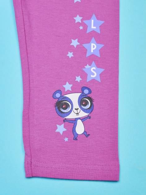 Fuksjowe legginsy dla dziewczynki LITTLEST PET SHOP                                  zdj.                                  4