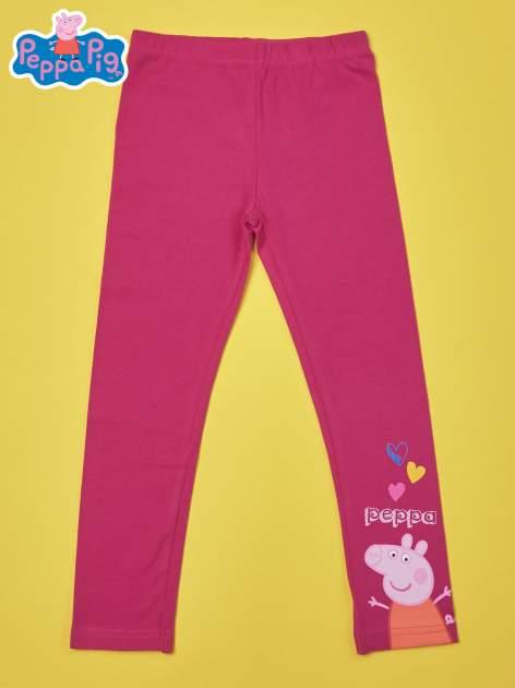 Fuksjowe legginsy dla dziewczynki ŚWINKA PEPPA