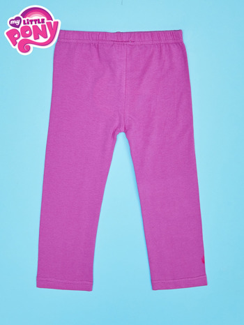 Fuksjowe legginsy dla dziewczynki nadruk MY LITTLE PONY                                  zdj.                                  2