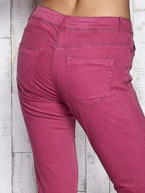 Fuksjowe spodnie z suwakami na nogawkach                              zdj.                              6