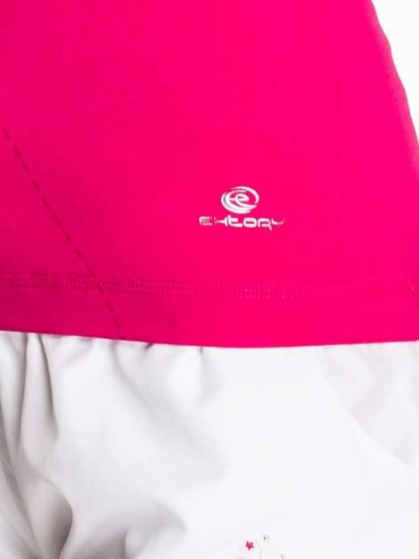 Fuksjowy modelujący damski t-shirt sportowy                                  zdj.                                  5