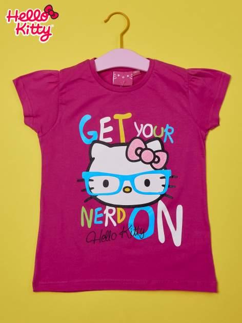 Fuksjowy t-shirt dla dziewczynki HELLO KITTY                                  zdj.                                  1