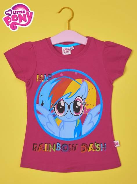 Fuksjowy t-shirt dla dziewczynki  motywem bajki MY LITTLE PONY                                   zdj.                                  1