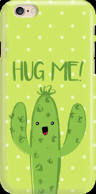 Funny Case ETUI IPHONE 6G CACTUS HUG ME