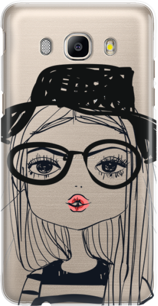 Funny Case ETUI SAMSUNG J5 2016 GIRL WITH PINK LIPS