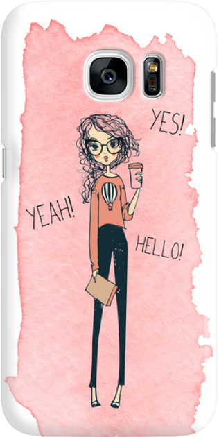 Funny Case ETUI SAMSUNG S7 YES, YEAH, HELLO