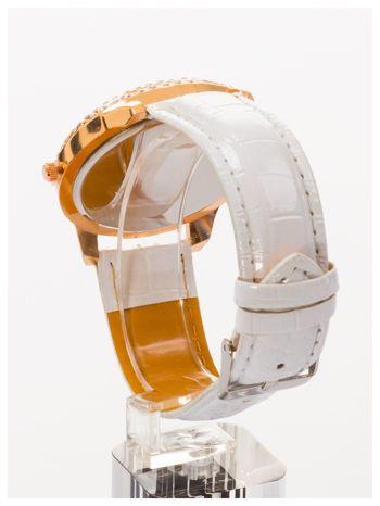 GENEVA Biały damski zegarek na pasku ze skóry lakierowanej                                  zdj.                                  4