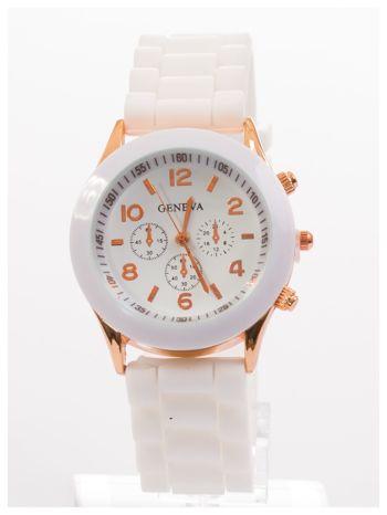 GENEVA Biały zegarek damski na silikonowym pasku                                  zdj.                                  1