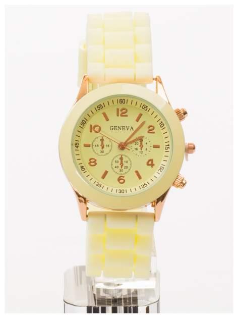 GENEVA Ecru zegarek damski na silikonowym pasku                                  zdj.                                  1
