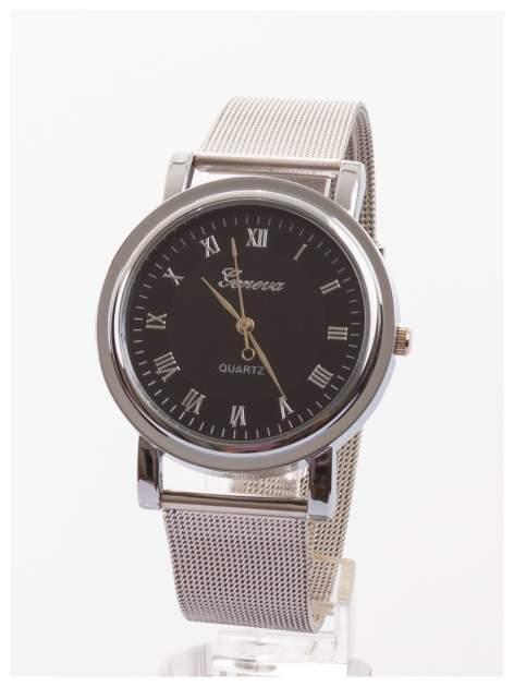 GENEVA Klasyczny zegarek Geneva metalowej bransolecie