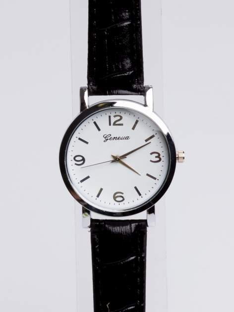 GENEVA Klasyczny zegarek Geneva na skórzanym pasku                                  zdj.                                  3
