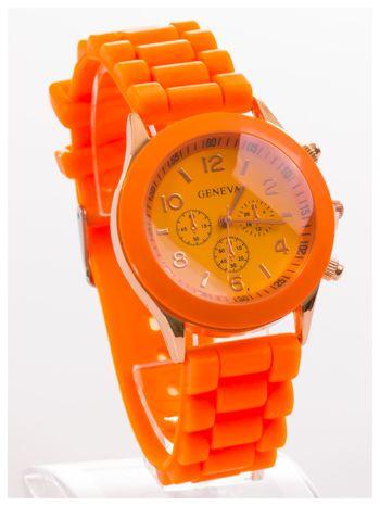GENEVA Pomarańczowy zegarek damski na silikonowym pasku                                  zdj.                                  2