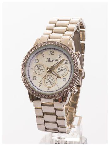 GENEVA Srebrny zegarek damski z cyrkoniami na bransolecie GENEVA