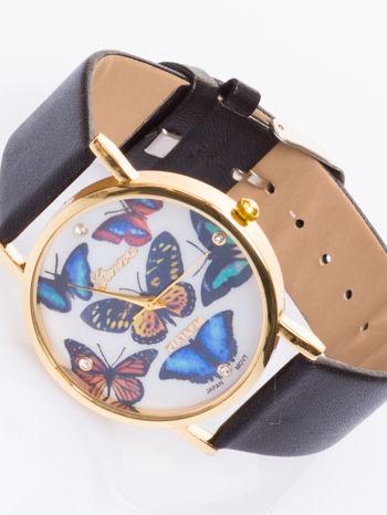 GENEVA Zegarek damski z rysunkiem motyla na tarczy