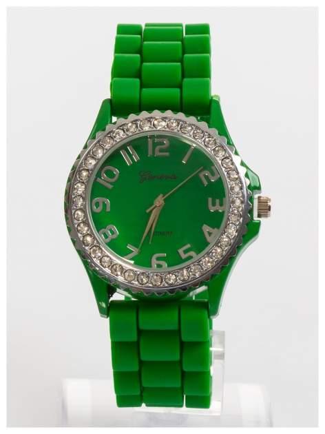 GENEVA Zielony zegarek damski na silikonowym pasku                                  zdj.                                  1
