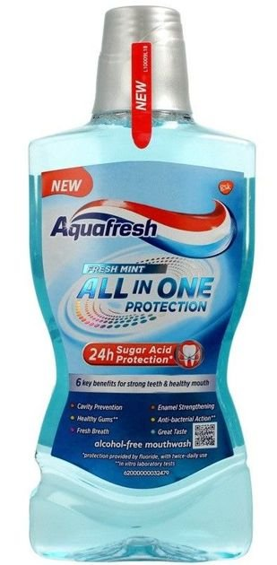 GSK AQUAFRESH Płyn do płukania ust ALL IN ONE PROTECTION 500 ml