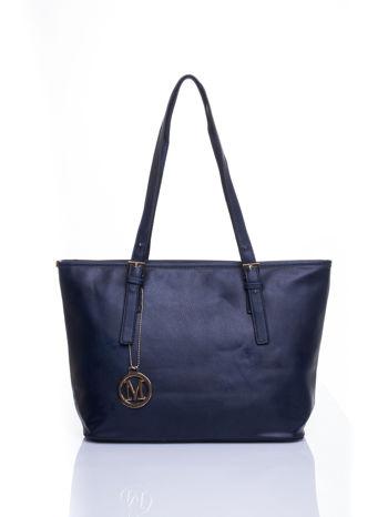 Ganatowa torba shopper bag z regulowanymi rączkami                                  zdj.                                  1