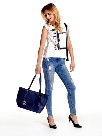 Ganatowa torba shopper bag z regulowanymi rączkami                                  zdj.                                  2