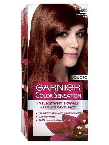 Garnier Color Sensation Krem koloryzujący do włosów 5.35 Cynamonowy Brąz