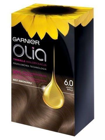 Garnier Olia Farba do włosów nr 6.0 Jasny Brąz