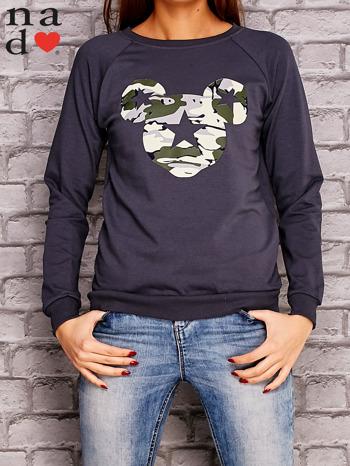 Grafitow bluza z nadrukiem moro                                  zdj.                                  1