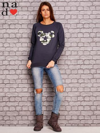 Grafitow bluza z nadrukiem moro                                  zdj.                                  2