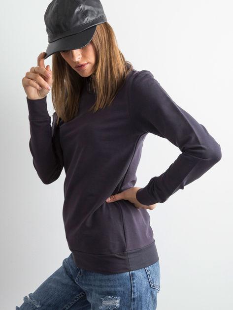 Grafitowa bluza damska basic                              zdj.                              3