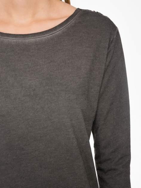 Grafitowa bluza z koronkową wstawką na plecach                                  zdj.                                  5