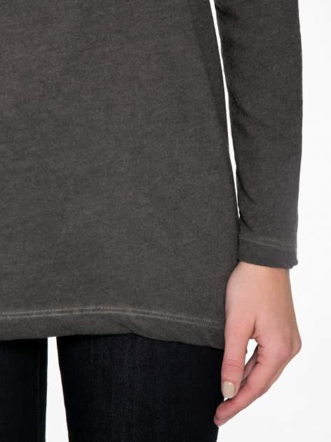 Grafitowa bluza z koronkową wstawką na plecach                                  zdj.                                  6