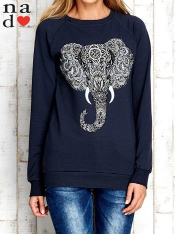 Grafitowa bluza z nadrukiem słonia                                  zdj.                                  1