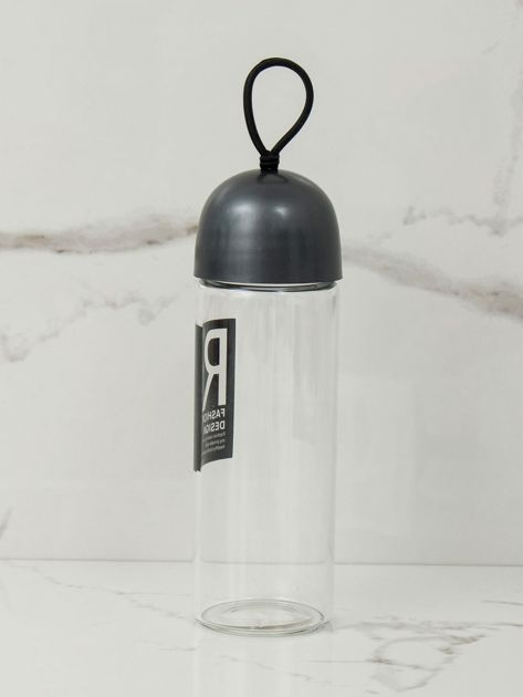 Grafitowa szklana butelka                              zdj.                              2