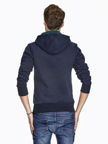 Granatowa bluza męska z napisem MAKE YOUR BEST SHOUT                                  zdj.                                  2