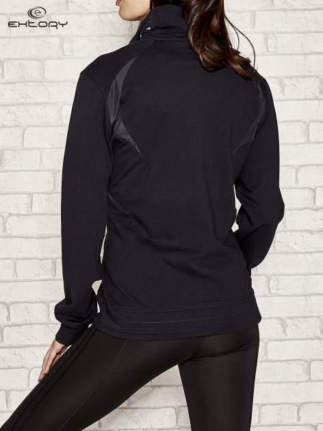 Granatowa bluza sportowa fitness ze wstawkami                                  zdj.                                  3