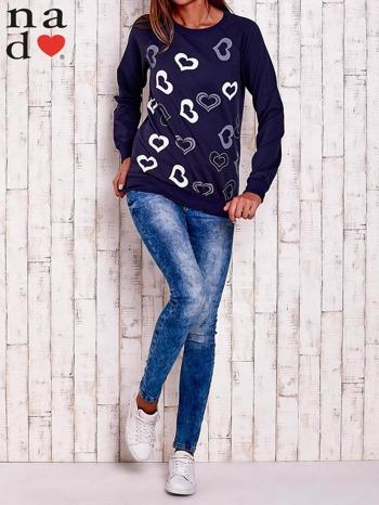 Granatowa bluza w serduszka                                  zdj.                                  2