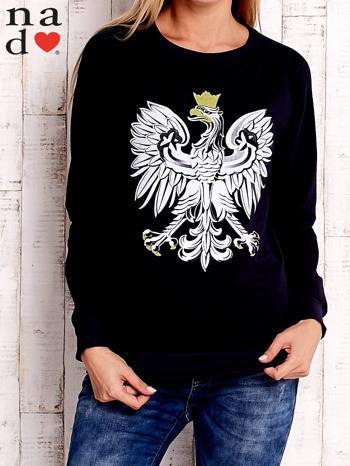 Granatowa bluza z godłem                                  zdj.                                  1