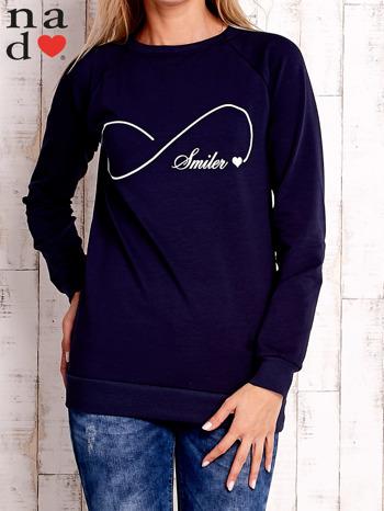 Granatowa bluza z napisem SMILER                                  zdj.                                  1