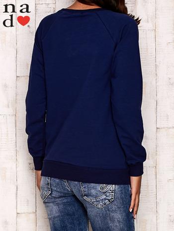 Granatowa bluza z serduszkami                                  zdj.                                  4