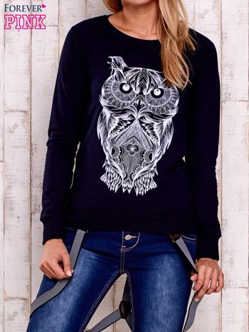 Granatowa bluza z sową