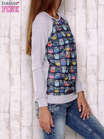 Granatowa bluza z sowami                                  zdj.                                  3