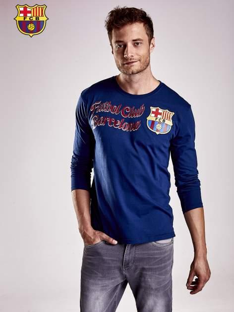 Granatowa bluzka męska FC BARCELONA                                  zdj.                                  9