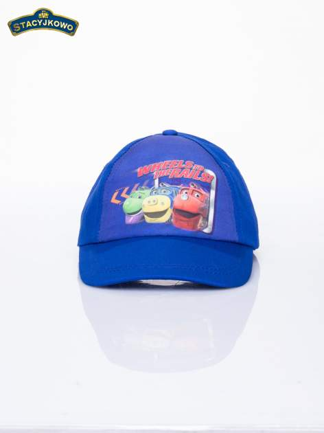 Granatowa chłopięca czapka z daszkiem STACYJKOWO