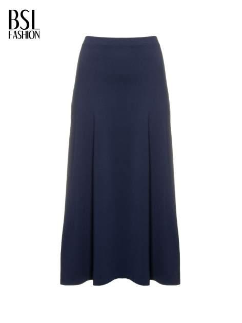 Granatowa długa spódnica maxi na gumkę                                  zdj.                                  2