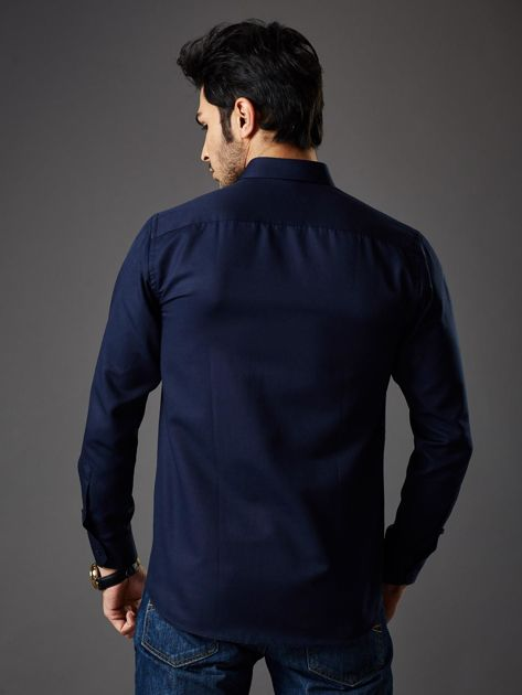 Granatowa koszula męska regular fit                              zdj.                              5