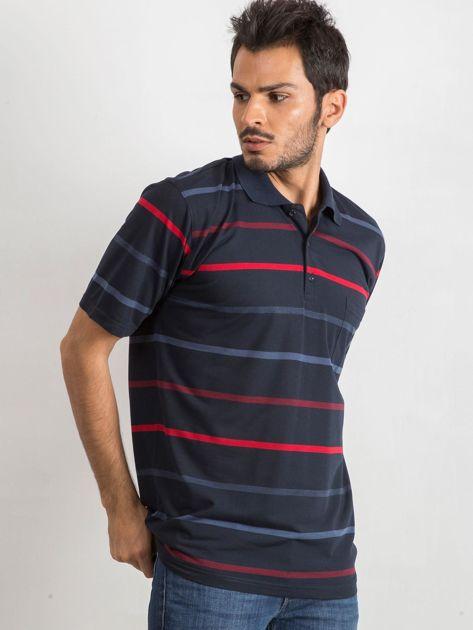 Granatowa męska koszulka polo Approachable