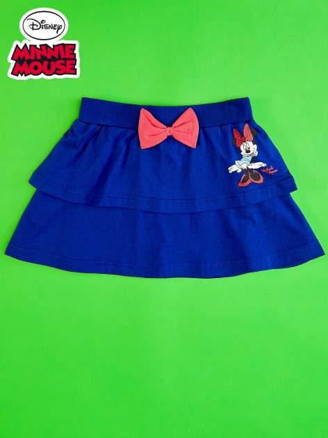 Granatowa spódnica dla dziewczynki z falbanami MINNIE MOUSE                                  zdj.                                  1