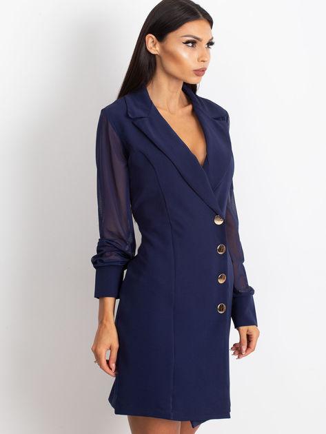 Granatowa sukienka Master                              zdj.                              3