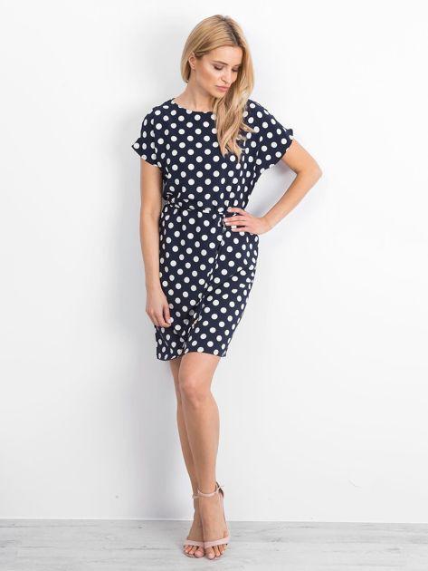 Granatowa sukienka Peyton                              zdj.                              4