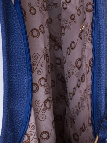 Granatowa torba hobo z klamerkami                                  zdj.                                  4
