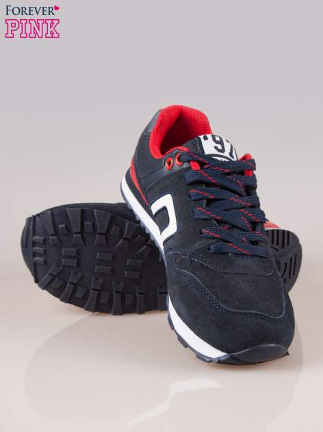 Granatowo-czerwone buty sportowe damskie                                  zdj.                                  4